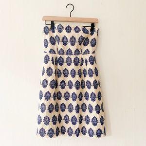 J. Crew Embroidered Filigree Strapless Dress -Sz 2
